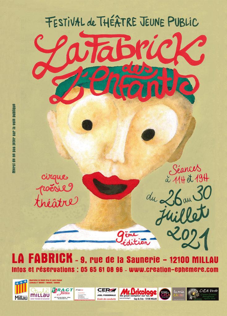 """Affiche d'un festival jeune public déédié aux enfant """"la fabrick des z'enfants"""""""