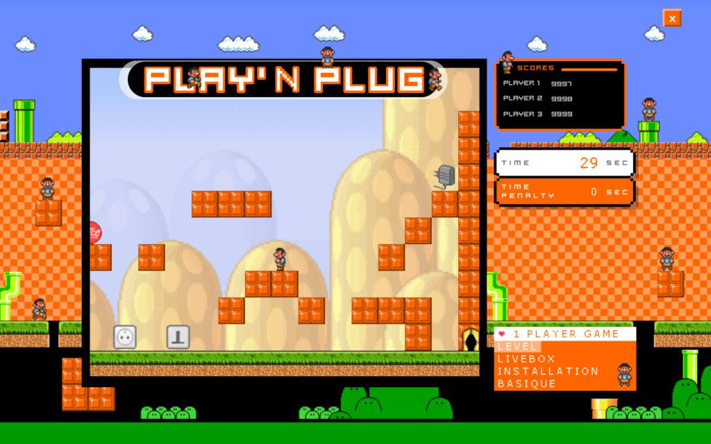 Jeu inspiré de l'univers de Mario à destination des vendeurs d'Orange.